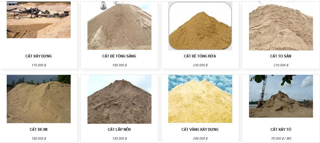 Cung cấp sản phẩm cát xây dựng cho các công trình