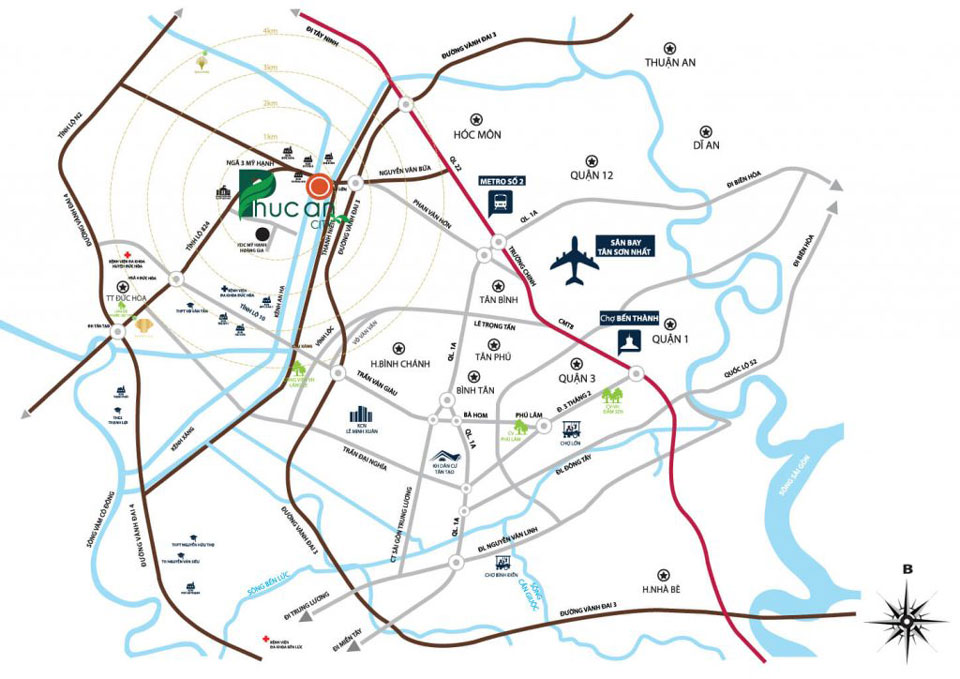 Vị trí dự án khu đô thị Phúc An city