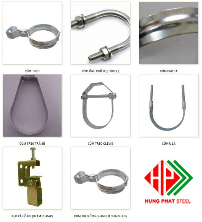 Cùm treo ống cung cấp cho các công trình